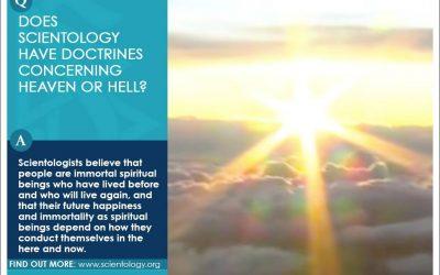 山達基的教義有談到天堂或地獄嗎?