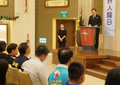 主辦單位山達基教會高雄機構董事長薛智元致詞